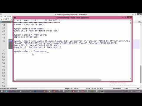 10. Difference Between Truncate Table And Delete From In MySql || Command Prompt and MySql Tutorial