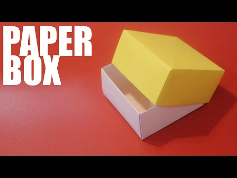 Origami paper box with lid - Tutorial