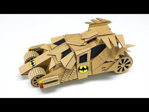 DIY TOY RC Batmobile Cardboard Model