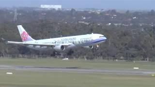 100 km per hour wild winds! Amazing Landings Melbourne Airport