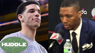 Damian Lillard GOES OFF About Trailing Lonzo Ball in All-Star Voting -The Huddle