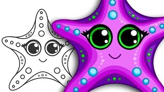 How To Draw A Starfish Step By Step Drawing