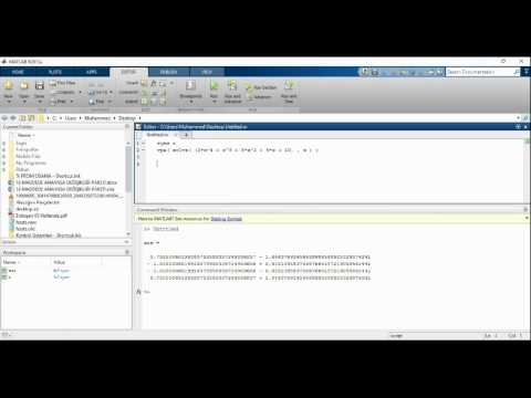 How to find roots of an equation by Matlab