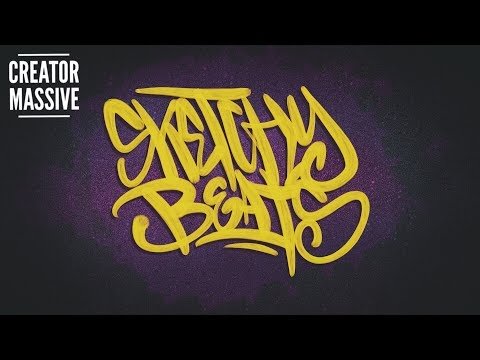 Sketchy Beats EP01 | Freestyle beat making over graffiti sketching