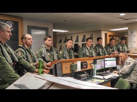 Air Force Pilots Preflight Briefing & Takeoff  – F-15E Strike Eagle