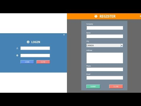 JAVA - How To Design Login And Register Form In Java Eclipse Part -1