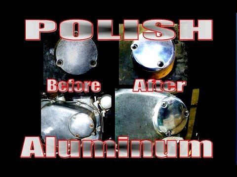 Polishing aluminum parts
