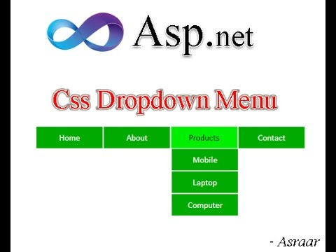 Css dropdown menu in asp net