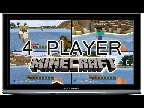 Minecraft Xbox 360 4-Player Split Screen XBLA Preview