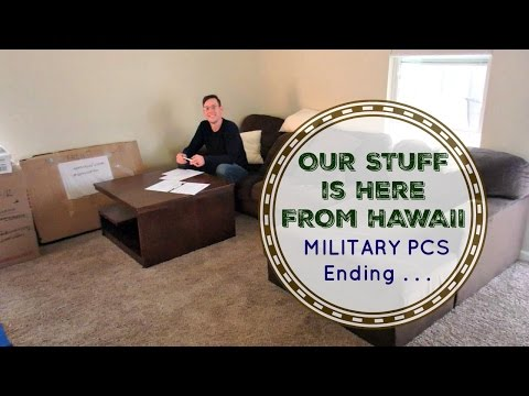 OUR STUFF IS HERE FROM HAWAII | Military PCS
