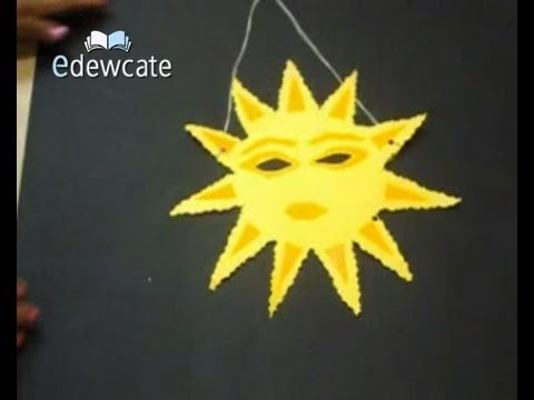 How to make a sun shaped paper mask