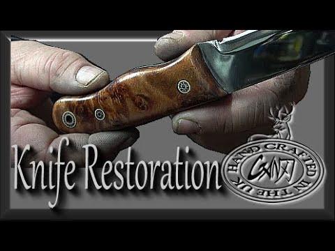 BUSHCRAFT KNIFE  RESTORATION / SCALES / BLADE / TSPROF SHARPENING