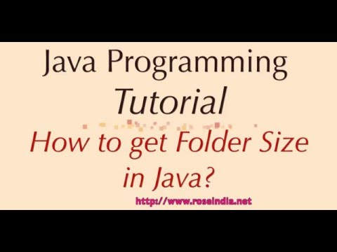 How to get Folder Size in Java?