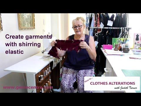 Create garments with shirring elastic