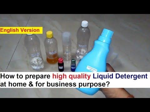 Liquid Detergent Making Process - 100% Real Formula