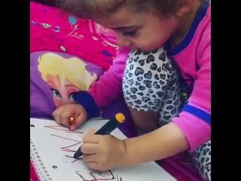 How to write with left hand toddler