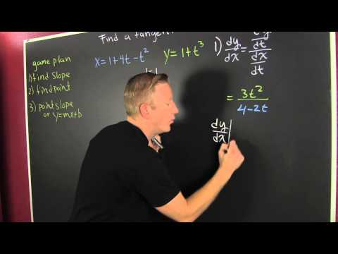 Find the Equation of a Tangent Line, Parametric Equation