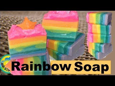 Happy Rainbow Soap