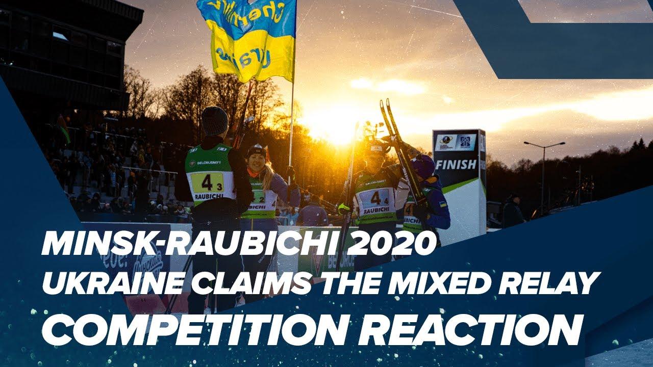 Mixed Relay Gold for Ukraine in IBU OECH 2020