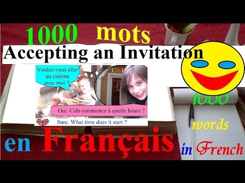 1000 words in french english | Accepting an invitation + subtitles