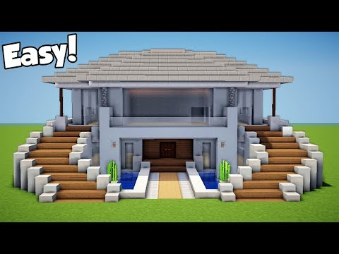 Minecraft: How to Build a Modern House - Mansion Tutorial (#12)