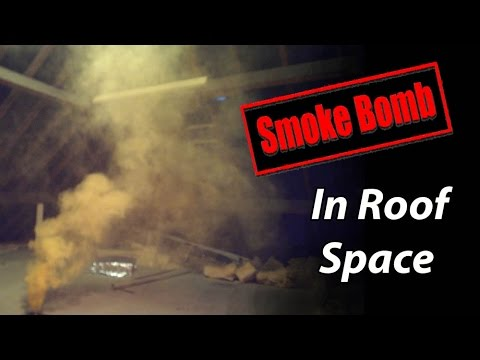 Roof Ventilation Smoke Bomb Test in Attic