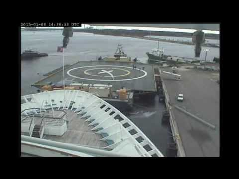 SpaceX Barge/ASDS Being Worked On, Fueled, and Towed out of Jacksonville Port on 2015-01-08