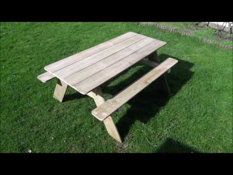 How to make a picnic table