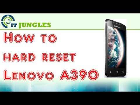 How to Hard Reset Lenovo A390