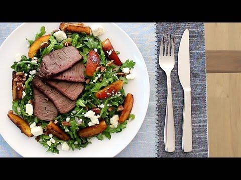 Seared Steak & Nectarine Salad | Hello Fresh x Cathy Diep