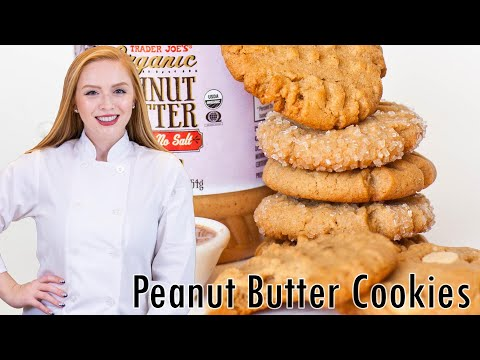 Peanut Butter Cookies with White Chocolate