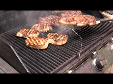 How To Grill Cook Steak, Pork Loin And Sausage
