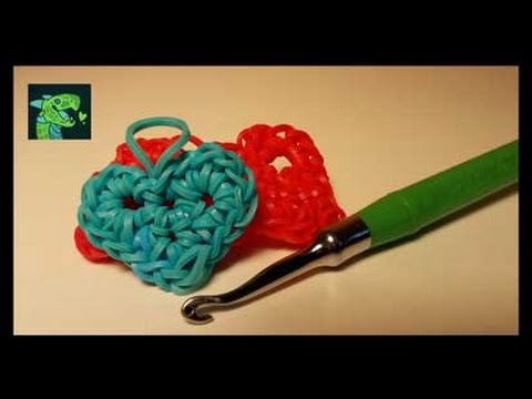 Valentines Heart Charm Rainbow Loom hook only by Cheryl Mayberry