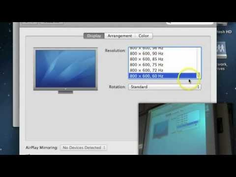 Setting up your projector and Macbook