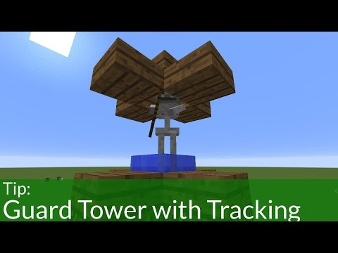 How to Build an Automated Guard Tower in Minecraft