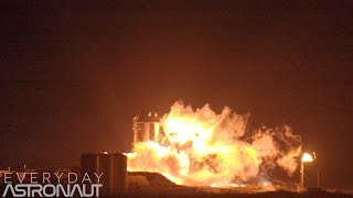 SpaceX's StarHopper's first HOP (20 meters) 4K slow motion