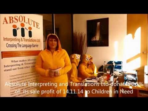 Absolute Interpreting and Translations Ltd Donates to Children in Need