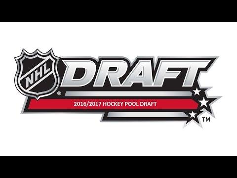 2016/2017 Hockey Pool Draft LIVE