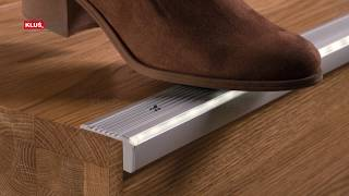 KLUS LLC - the STEKO extrusion illuminates and protects the edge of the step