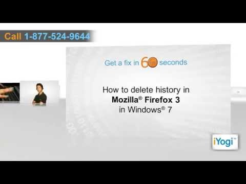 How to delete history in Mozilla® Firefox 3 in Windows® 7