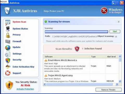 Remove XJR Antivirus! It's a Rogue!