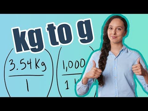 Kg to g (How to Convert Kilograms to Grams)
