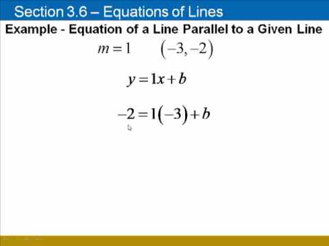 Finding Equations of Lines, Given a Parallel or Perpendicular Line, Using Slope-Intercept Form