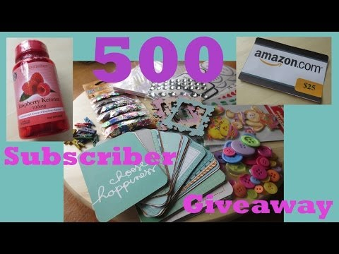 500 subscribers giveaway!! (CLOSED)