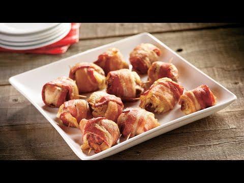 Bacon-Wrapped Duck Reuben Bites