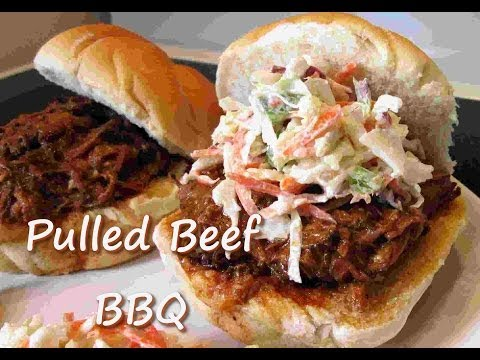 How to Make PULLED BEEF BBQ Sandwich ~ Slow Cooker Shredded Beef Recipe