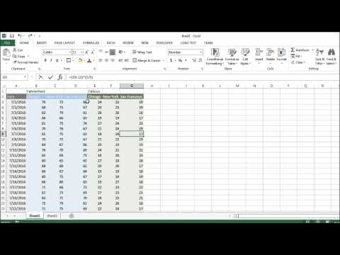 Excel Tutorial 7 of 25 - Merge Cells in Excel