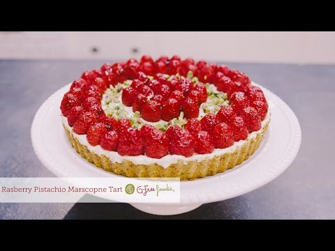 Raspberry Mascarpone Tart with Pistachio Crust - so delish!