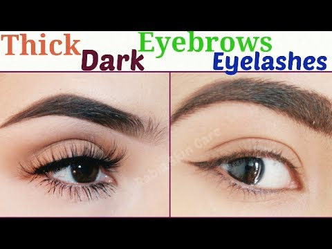 How To Grow Thicker Darker Eyebrows & Eyelashes Fast And Naturally|| Grow Back Your Eyebrows ||Serum