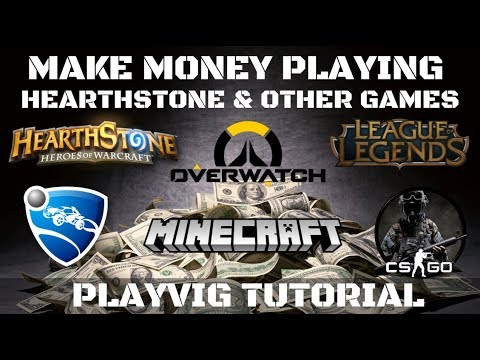 How to make money playing Hearthstone! PlayVig Tutorial!